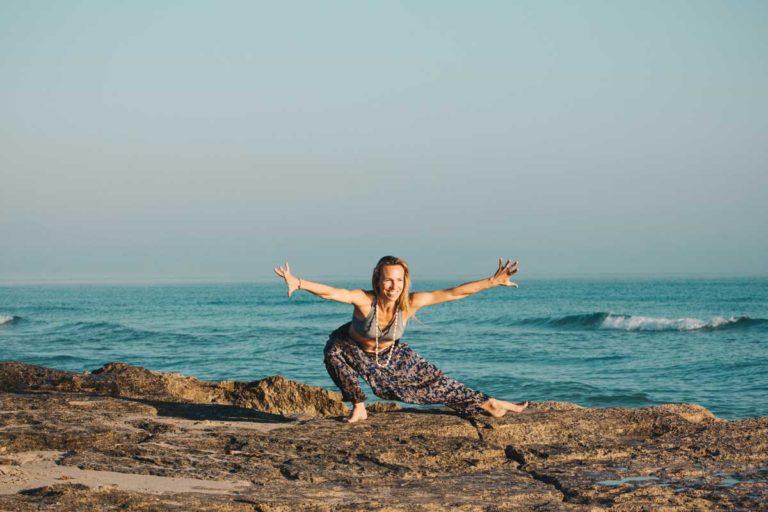 Yoga Übung am Meer