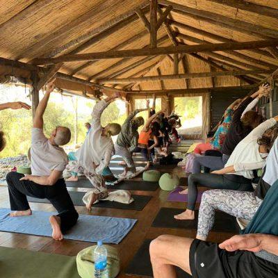 Yoga Retreat Gruppe