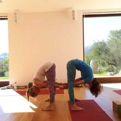 Yoga Retreat Gruppenübung