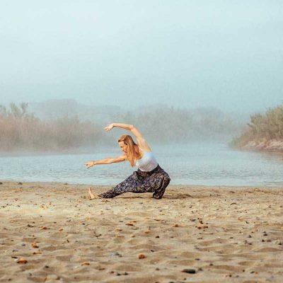 Yoga Übung am Morgen